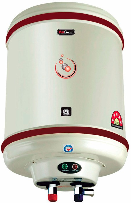 View VOLTGUARD 35 L Electric Water Geyser(White, 5 STAR HOTLINE) Home Appliances Price Online(VOLTGUARD)