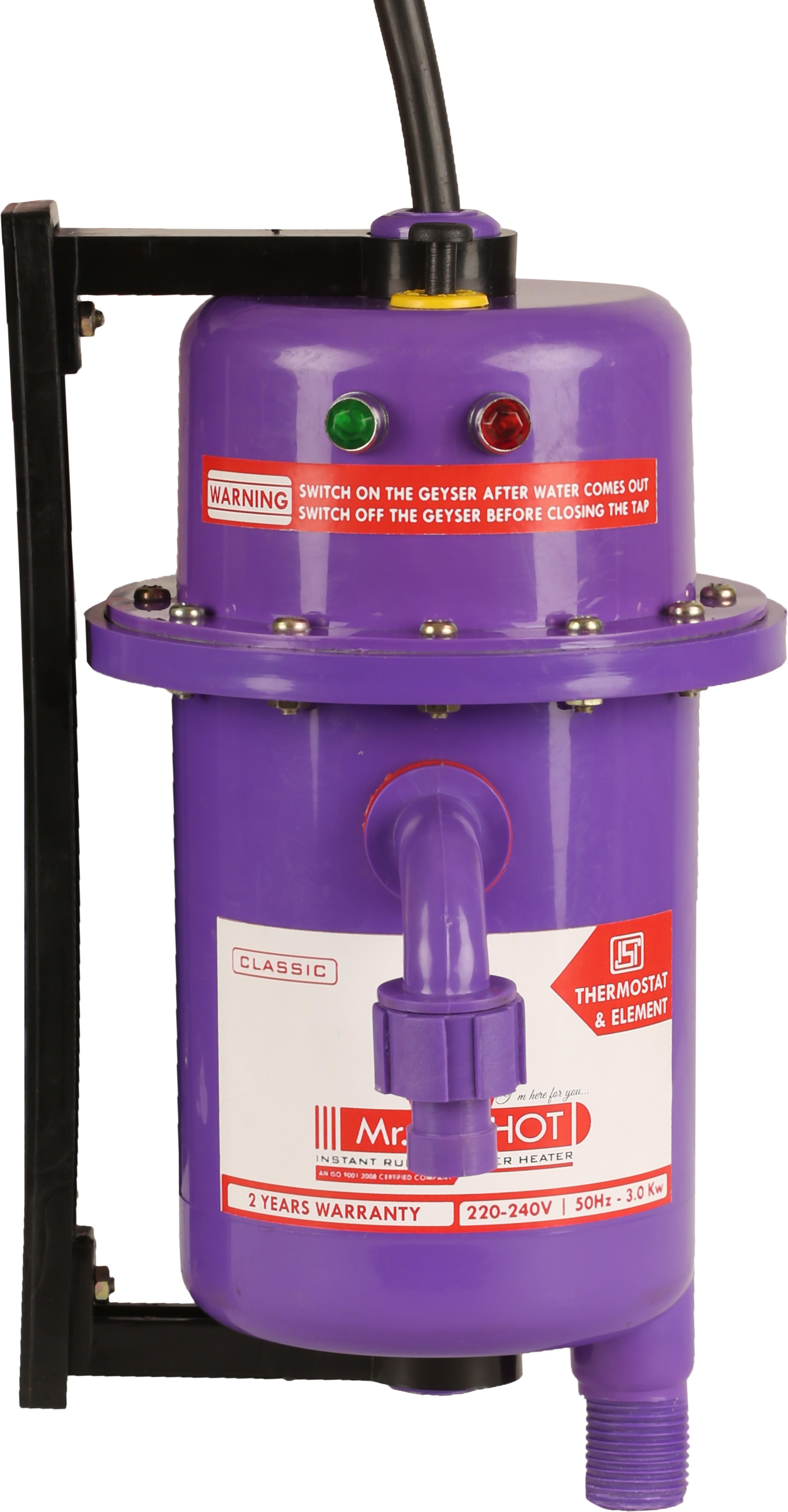 View Mr.Shot 1 L Instant Water Geyser(Violet, Classic) Home Appliances Price Online(Mr.Shot)