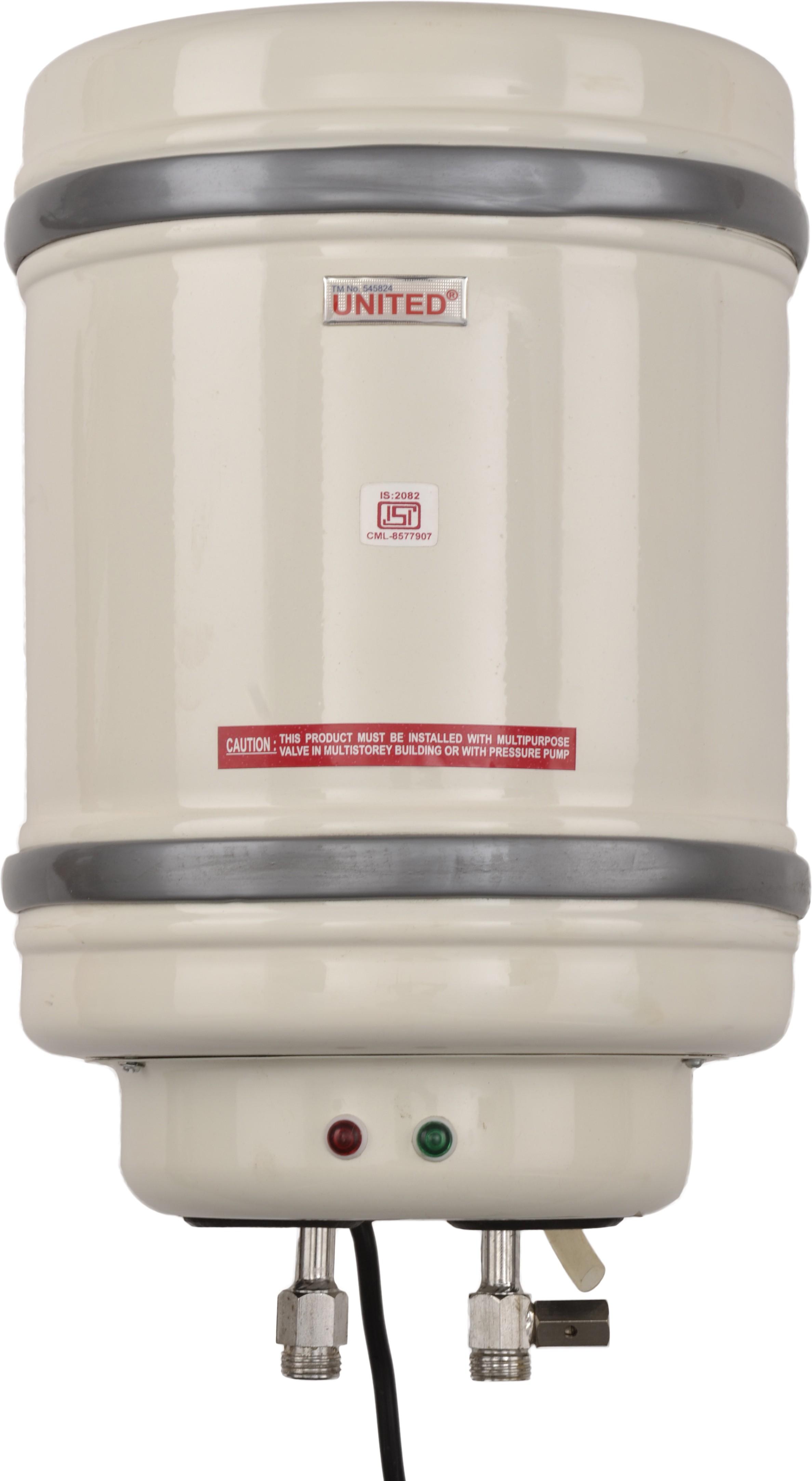 View United 6 L Storage Water Geyser(White, ABS 6L G) Home Appliances Price Online(United)