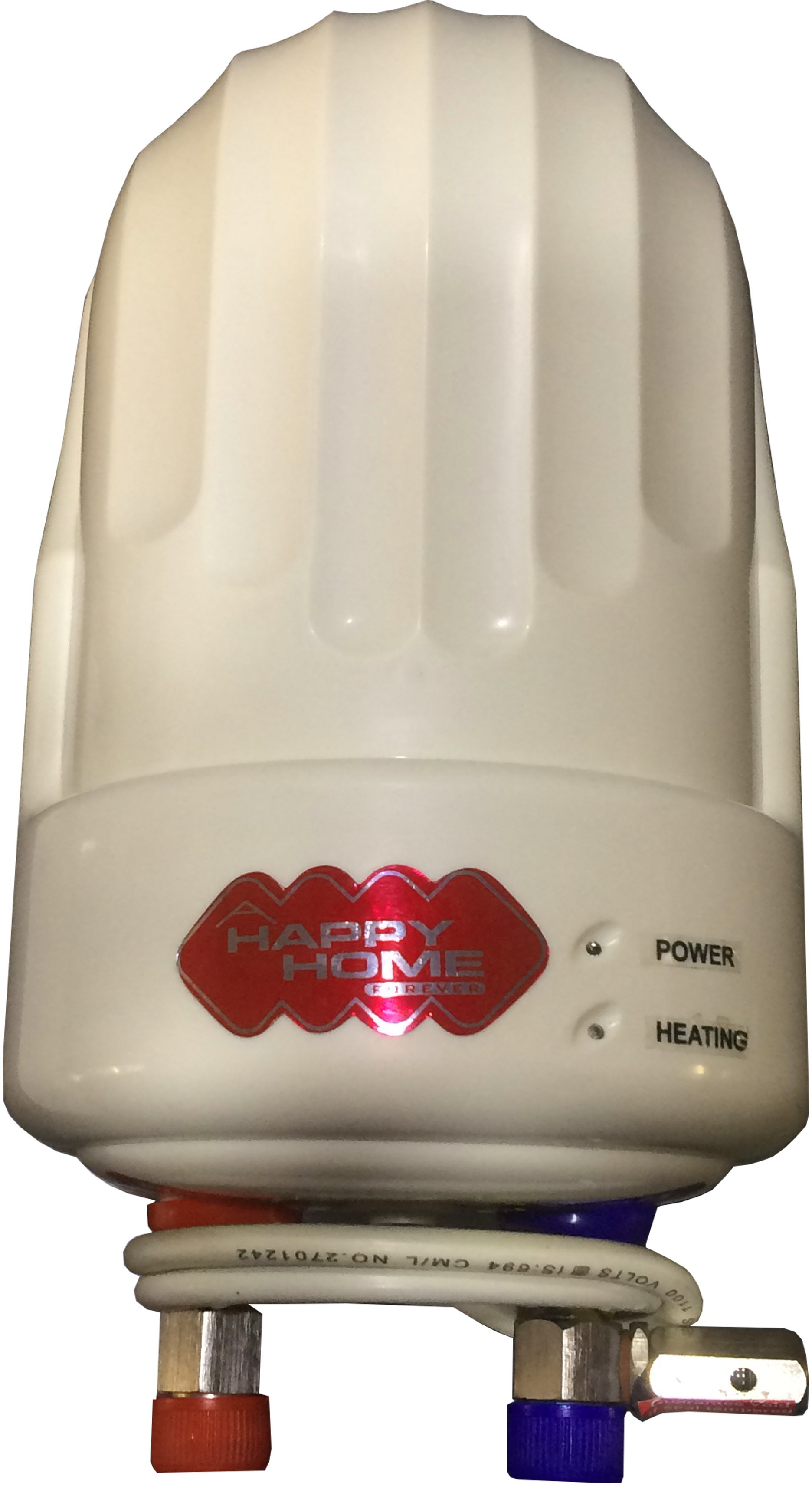 View Happy Home 1 L Instant Water Geyser(White, Insta Heater) Home Appliances Price Online(Happy Home)