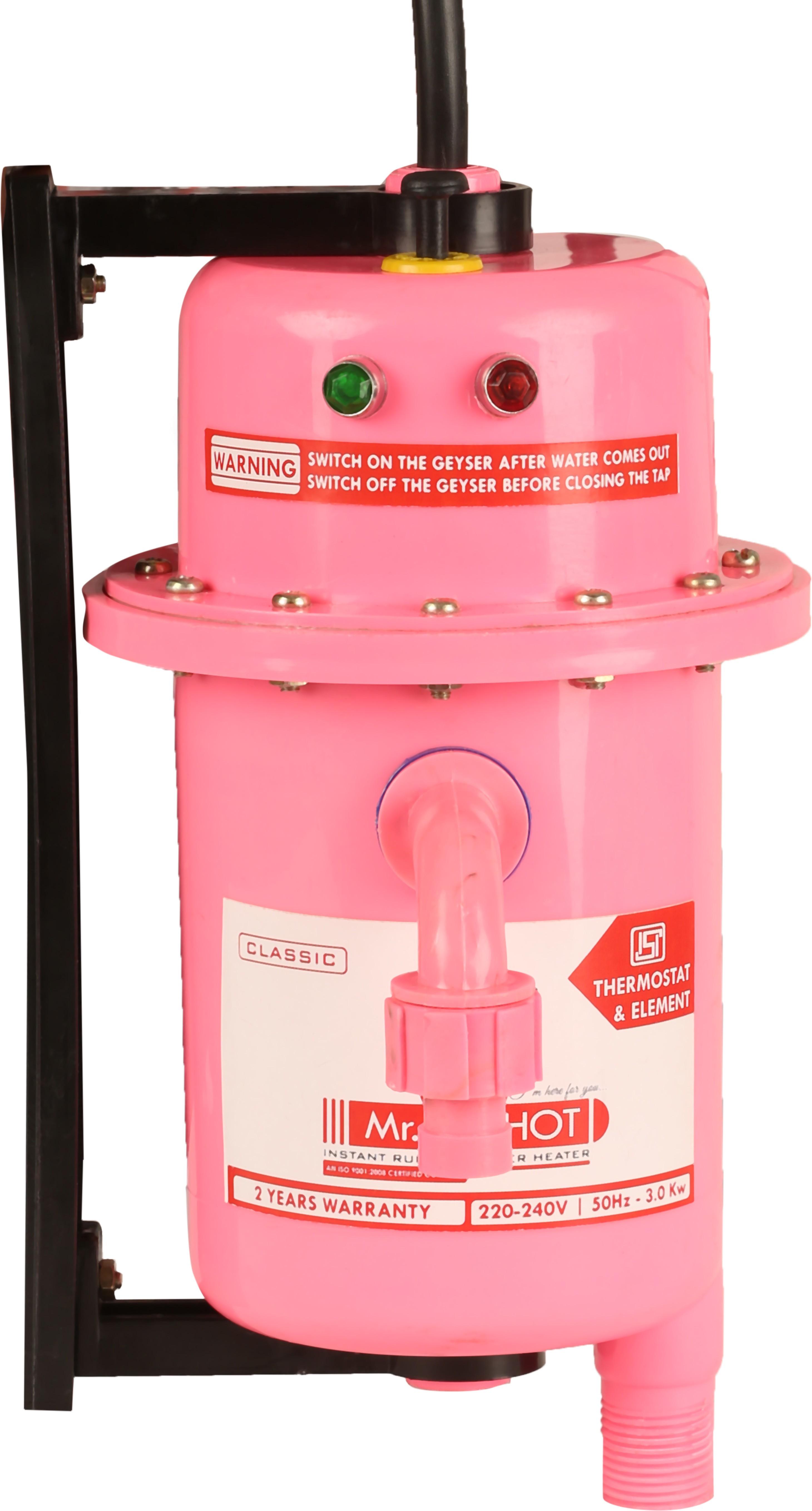 View Mr.Shot 1 L Instant Water Geyser(Rose, Manual Reset) Home Appliances Price Online(Mr.Shot)