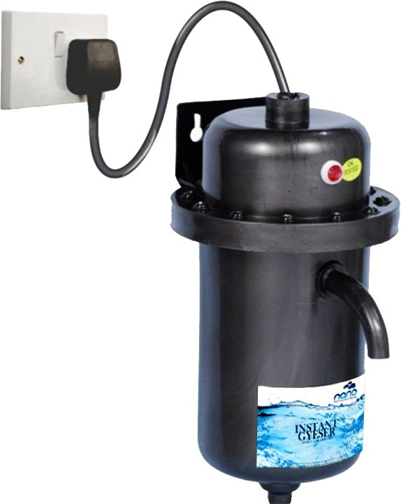 View nano 1 L Instant Water Geyser(Black, Instant geyser) Home Appliances Price Online(nano)