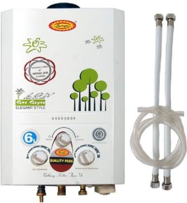 Surya 6 L Instant Water Geyser(White, Gass Geyser)