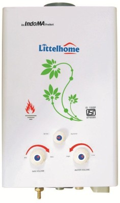 Littelhome 6.5 L Gas Water Geyser(White, Gas Geysers 6.5 Ltrs)