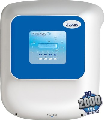 Livpure Touch 2000 8.5 L RO + UV Water Purifier(White)