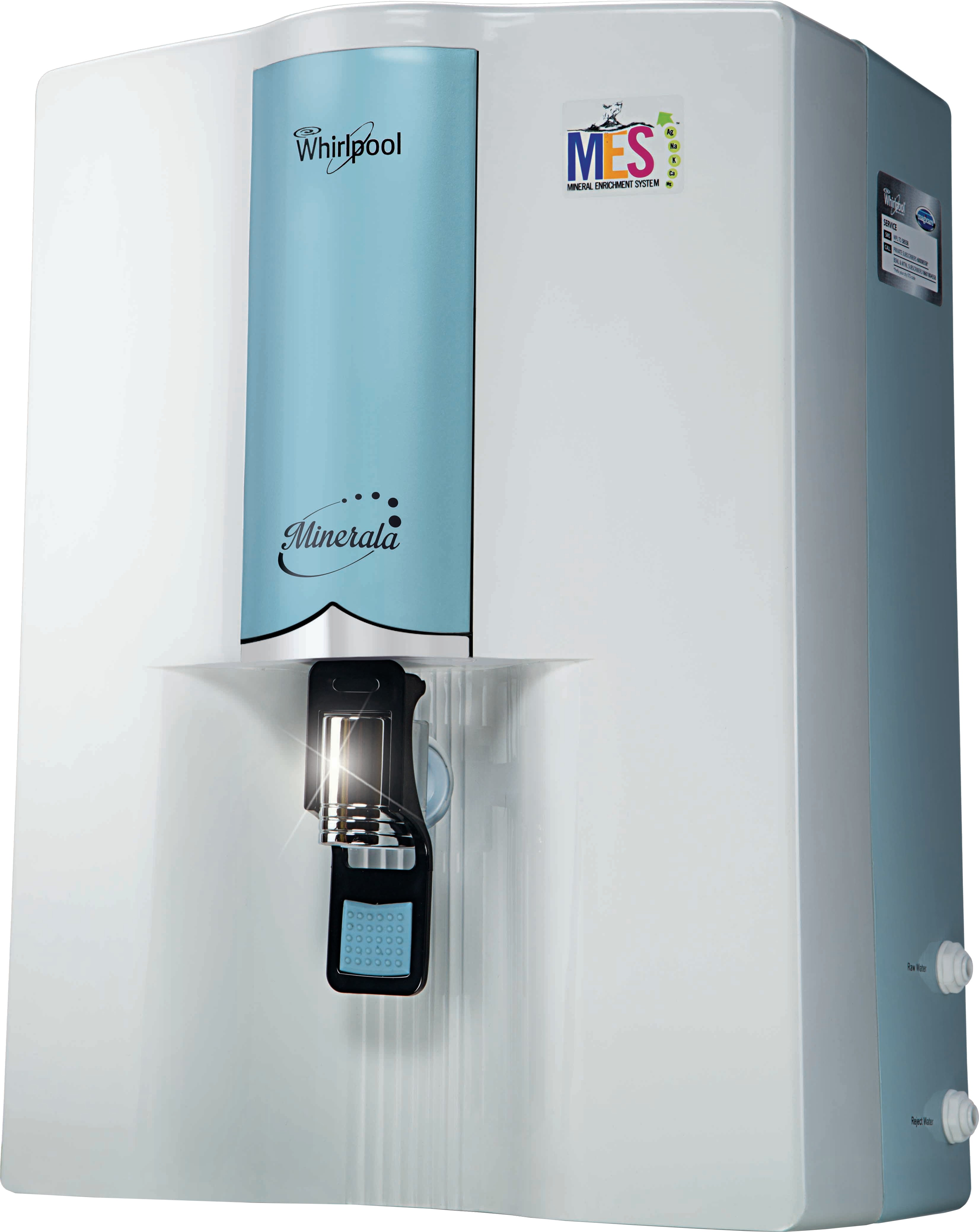 View Whirlpool Minerala 90 Classic 8.5 L RO Water Purifier(Blue) Home Appliances Price Online(Whirlpool)