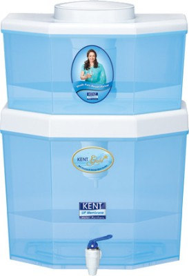 Kent Gold Star 22 L Gravity Based Water Purifier(White & Blue)