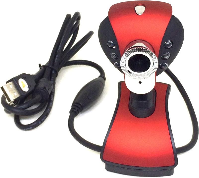 Shrih Computer PC Laptop 32 Megapixels PC Clip  Webcam(Red)
