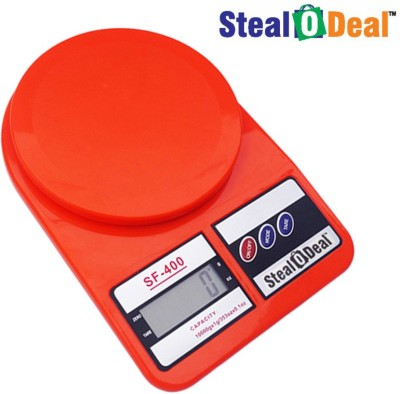 Stealodeal Red 7kg Electronic Kitchen Weighing Scale