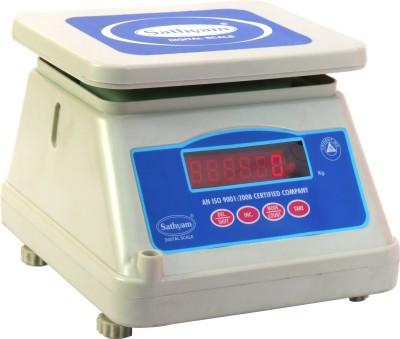 Sathyam Digital 10 Kg Kitchen Multi-Purpose Weighing Scale(White)