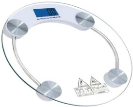 Phyzo Electronic Durable Digital Round Weighing Scale(Transparent)
