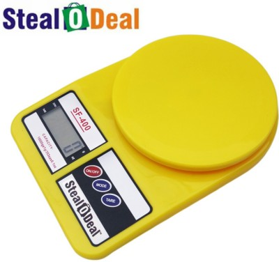 Stealodeal Yellow 10kg Electronic Kitchen Weighing Scale