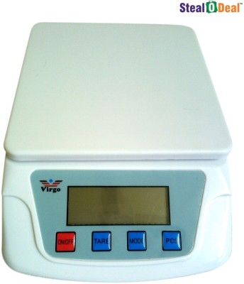 Virgo Stealodeal Digital Electronic 25 kg x 1 gm Multi-Purpose Weighing Scale(White)