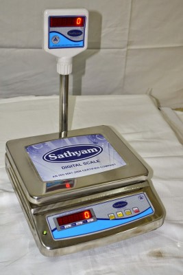 Sathyam Regular Table Top Ss 10kg/1g Weighing Scale