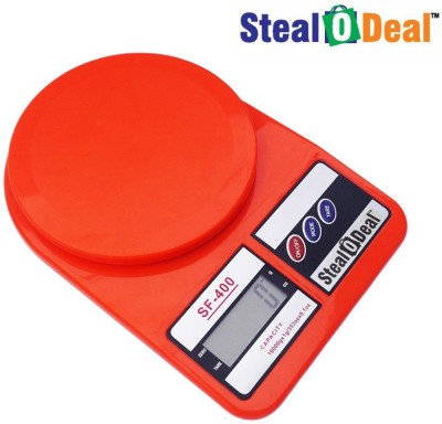 Stealodeal Red 10kg Electronic Kitchen Weighing Scale