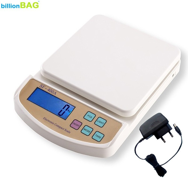 billionBAG SF 400A 7Kg with Adapter Digital Electronic Kitchen Weighing Scale