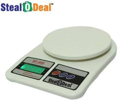 Stealodeal Backlight White 10kg Digital Kitchen Weighing Scale