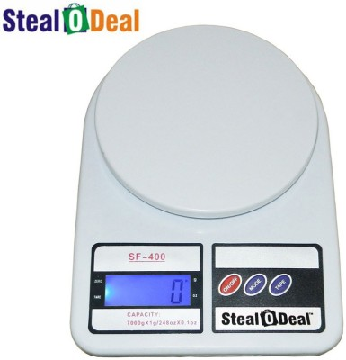 Stealodeal Backlight White 7kg Digital Kitchen Weighing Scale