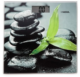 Nova BGS 1255 DIGITAL Black Stones Personal Scale Weighing Scale(multicolour)