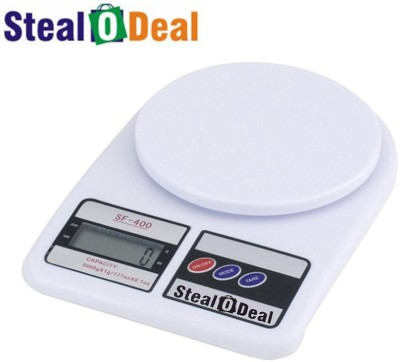 Stealodeal White 5kg Electronic Kitchen Weighing Scale