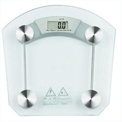 Inventure Retail Square Thick Tempered Glass Electronic Digital Personal Bathroom Health Body Weight Weighing Scale