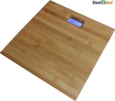 Stealodeal Digital Wooden Bamboo Body Weighing Scale