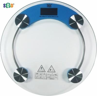 Virgo Glass Round Weighing Scale(Blue)
