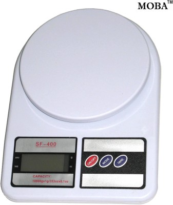 MOBA 1gm to 10kg Electronic Kitchen Weighing Scale(White)