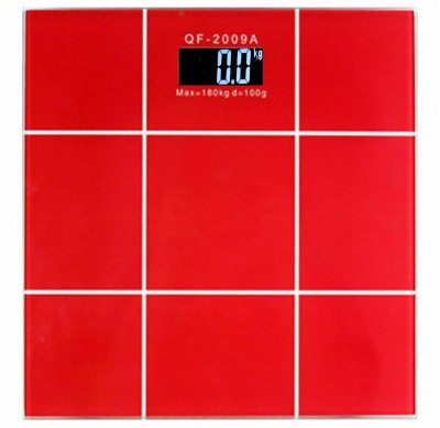 Virgo Thick Glass Personal Weighing Scale(Red)
