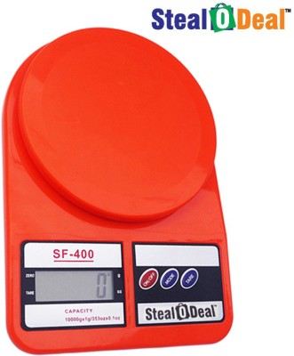 Stealodeal Red 5kg Electronic Kitchen Weighing Scale