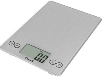 Escali Arti Glass Digital 15 Lb / 7 Kg, Shiny Silver Weighing Scale