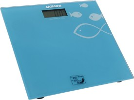 Samson Coloured Glass Top Bathroom Scale Weighing Scale