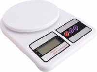 Cierie Plastic Kitchen Digital Weighing Scale(White)