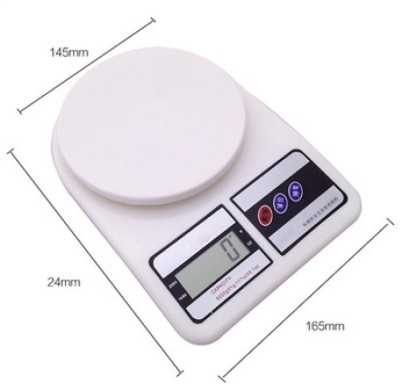 Cierie SF-400 5kg/1g Electronic Kitchen Weighing Scale(White) at flipkart