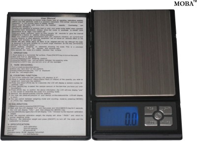 MOBA Digital Note Book Pocket Jewellery 0.01 To 500 Gm Weighing Scale