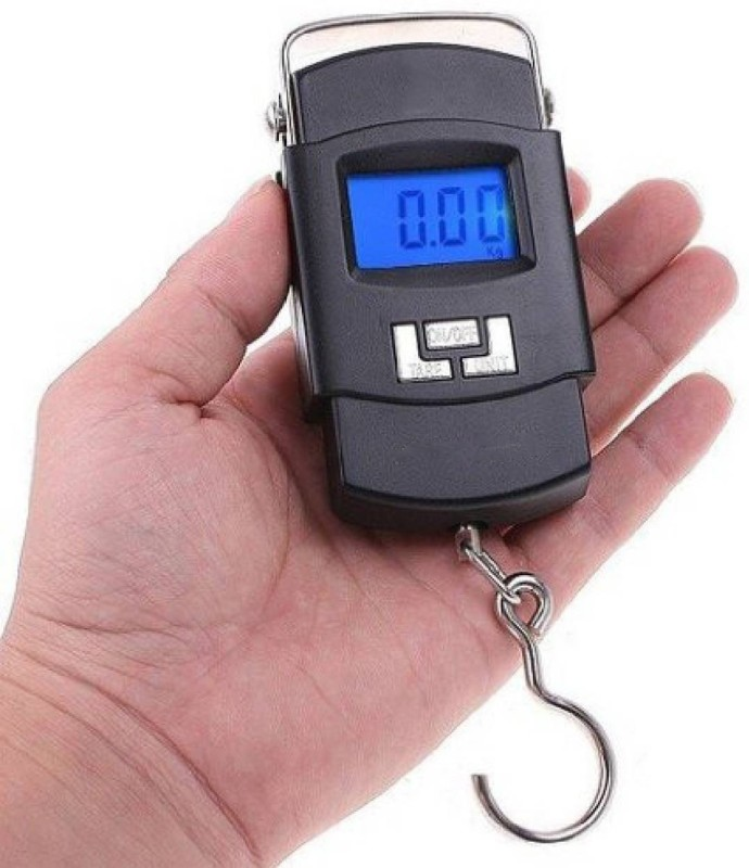 eDeal Portable Handheld Electronic Digital LCD 50kg Weighing Scale(Black)