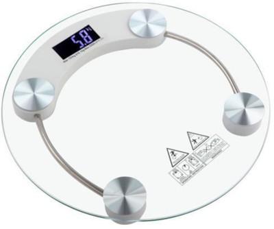 Gadget Bucket Round Shaped Glass Bathroom Digital 8mm Weighing Scale