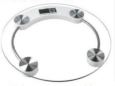 Phyzo 8MM Thick Glass Fat Monitor Round Weighing Scale