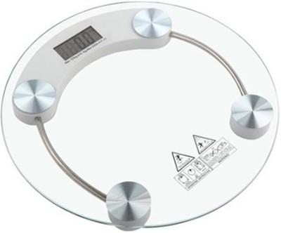 CreativeVia Healthcare Premium Quality 8MM Thick Glass Digital Round Weighing Scale(Transparent)
