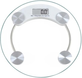 Phyzo Strong Transparent Round Weighing Scale(Transparent)