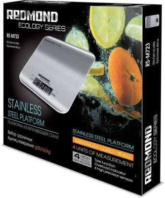 REDMOND RS-M723, <5kg, accuracy 1g (grams, milliliters, pounds, ounces) Kitchen Weighing Scale