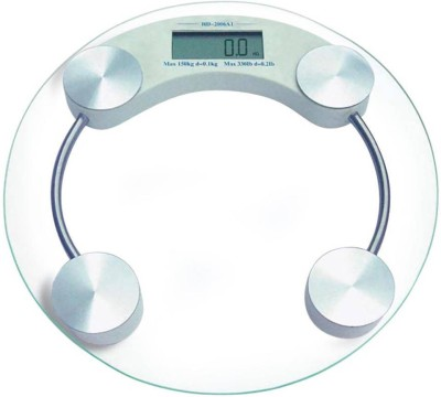 Lion Digital Glass Weighing Scale(Silver)