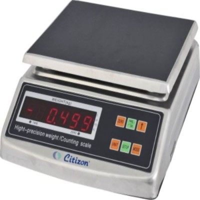 Citizon Electronic scale capacity 6kg, accuracy 0.5g, SS body Weighing Scale