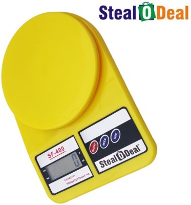 Stealodeal Yellow 5kg Electronic Kitchen Weighing Scale