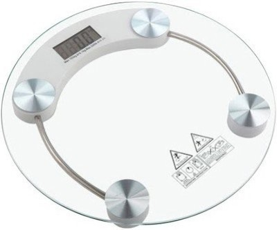 Phyzo Auto shut- Off 8MM Glass Personal Round Weighing Scale