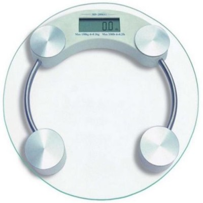 CreativeVia 8MM Premium Thick Glass Digital Round Weight Machine Weighing Scale