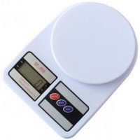Gadget Bucket Glass Weighing Scale(White)