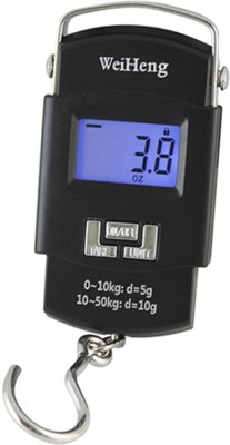 NRTRADING 40Kg Digital LCDPortable Hanging Kitchen Weight With Tare Weighing Scale Weighing Scale(Black) at flipkart