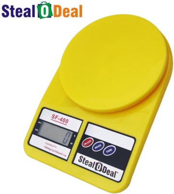 Stealodeal Yellow 7kg Electronic Kitchen Weighing Scale