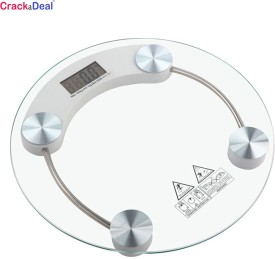 CrackaDeal Digital Round 150kg Personal Weighing Scale(White)
